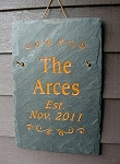 Roofing Slate Plaque Sign 12