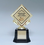 Custom Diamond Shaped Insert Trophy