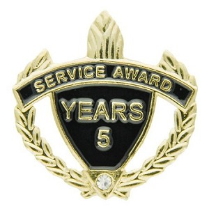 5 Years Service Award Pin