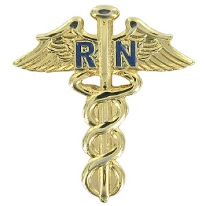 Nursing RN Caduceus Lapel Pin