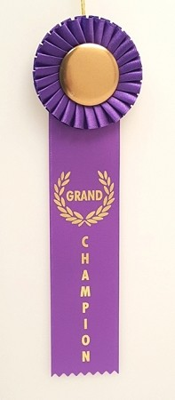 "Grand Champion Rosette Ribbon 3"" x 10"""