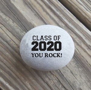 Class of 2020 You Rock Engraved Keepsake Stone 2-3""
