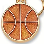 BASKETBALL Die Cast Sport Key Ring Key Chain Personalized