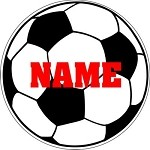 Soccer Round Vehicle Magnet Personalized 5.75 inch