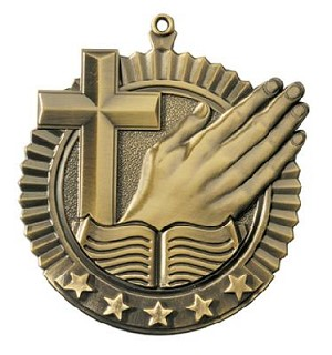 Religion Bible Church Five Star Series Medal