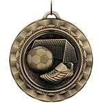 "SOCCER Spinning Medal   2 5/16"" ~ Includes Neck Ribbon & Engraving"