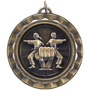 KARATE MARTIAL ARTS Spinning Medal