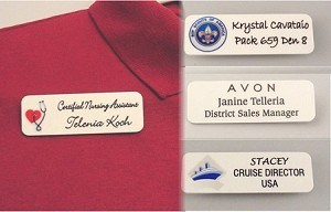 custom employee business id name tags badges
