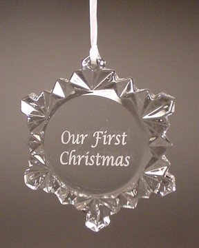 Snowflake Crystal Ornament