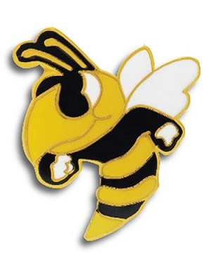 Hornet Bee Mascot Lapel Pin