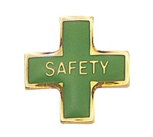 Safety Cross Lapel Pin
