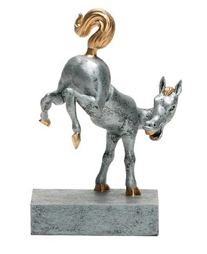 HORSES REAR Bobblehead Resin Award