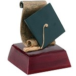 Graduation Graduate Sculpture Resin Award Trophy