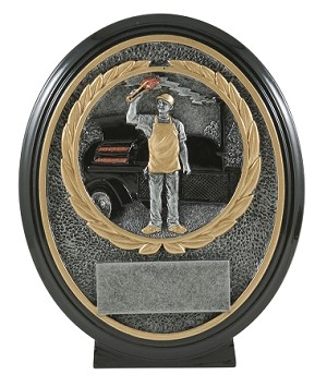 BBQ Smoker Oval Resin Plaque 8""