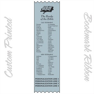 Custom Printed The Books of the Bible Personalized Ribbon Bookmarks