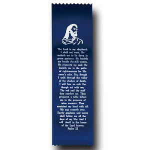 "Psalm 23 Satin Ribbon Bookmark 2"" x 9"" Promotional Bookmarks   *discontinued limited stock available*"