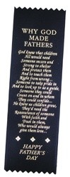 "Father's Day Poem Satin Ribbon Bookmark 2"" x 9"""