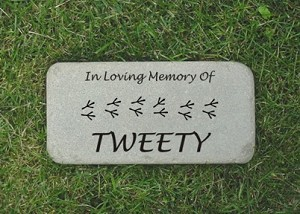 Cockatiel Memorial Grave Marker Tumbled Bluestone 6x12