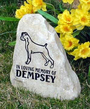 boxer engraved memorials and boxer grave marker stones