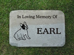 Bulldog Memorial Stone Pet Headstone 12x18