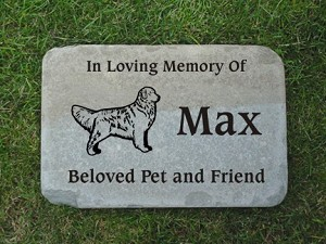 Golden Retriever Pet Memorial Stone 12x18