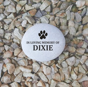 "Signature Stone Off White 4-5"" Dog Remembrance Memorial Rock"