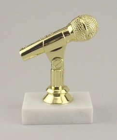 Microphone Award Trophy