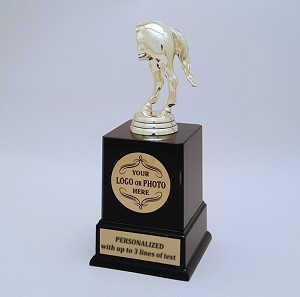 Horses Rear Trophy with custom insert